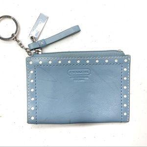 Coach Mini Skinny ID Holder Wallet Blue